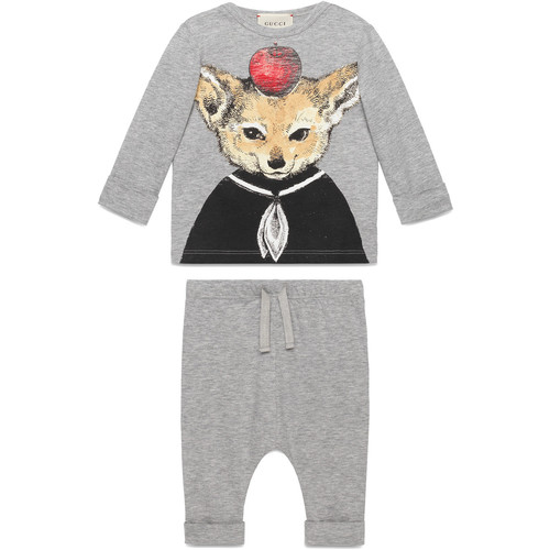 Baby gift set with fox print
