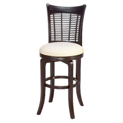 Hillsdale Furniture Bayberry 24 in. Dark Cherry Swivel Cushioned Bar Stool