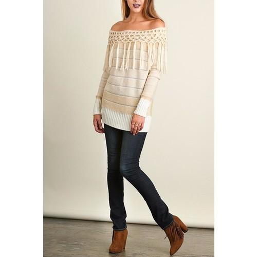 Tassels Tunic Sweater