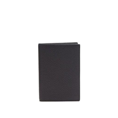 Burlington grained-leather passport holder