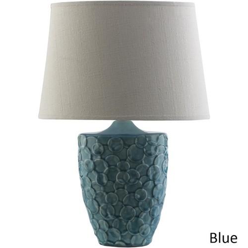 Modern Finn Table Lamp with Glazed Ceramic Base