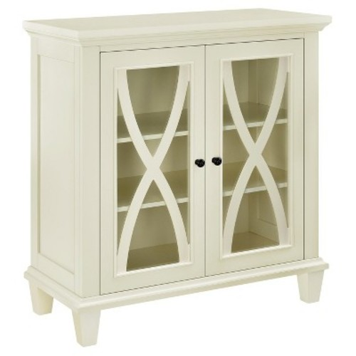 Ellington 2 Door Accent Storage Cabinet - Cream - Altra