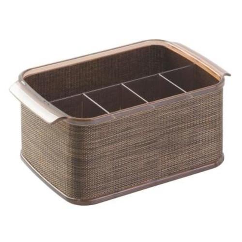 interDesign Twillo 5-Compartment Cutlery Caddy in Bronze