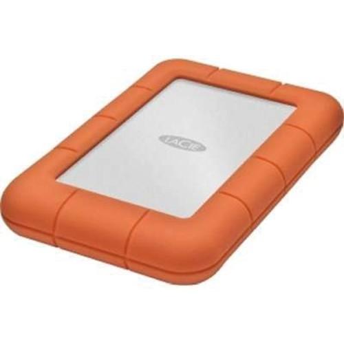 LaCie Rugged Mini 500GB 5 Gbps USB 3.0 External Hard Drive, Orange (LAC301556)