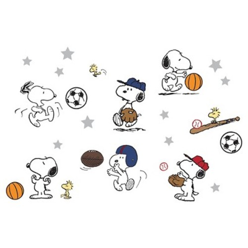 Peanuts Wall Appliques - Snoopy Sports