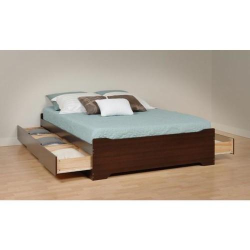 Prepac Coal Harbor Queen Wood Storage Bed