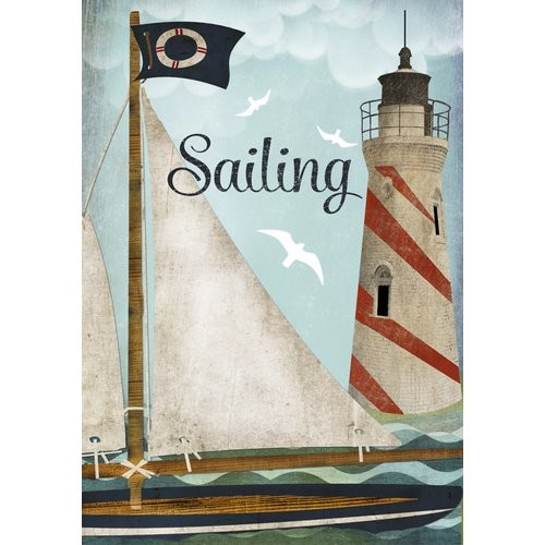 'Sailing' by Beth Albert Graphic Art on Canvas