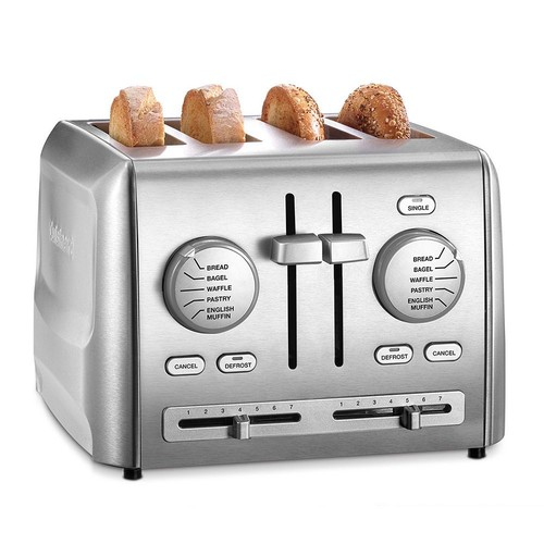 Cuisinart 4 Slice Toaster - Stainless Steel CPT640