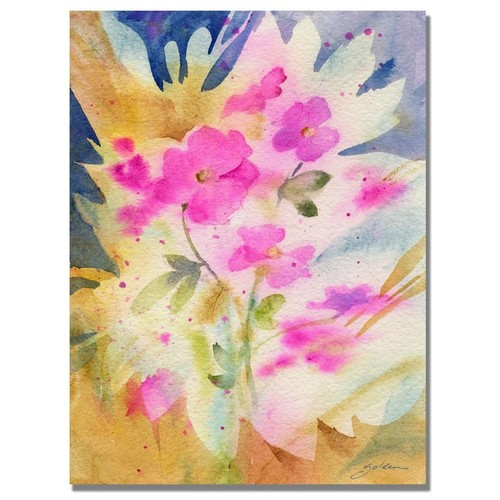 Shelia Golden 'Vinca Shadows' Canvas Wall Art 35 x 47