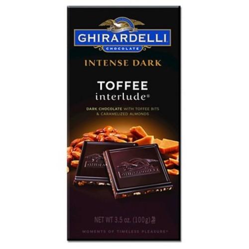 Ghirardelli Intense Dark Toffee Interlude Chocolate Squares 3.5 oz