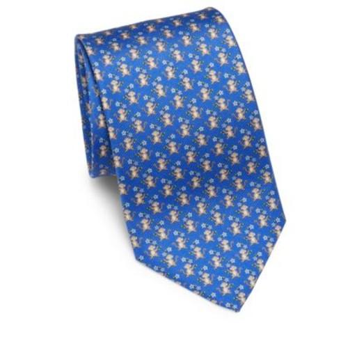Monkey Print Silk Tie