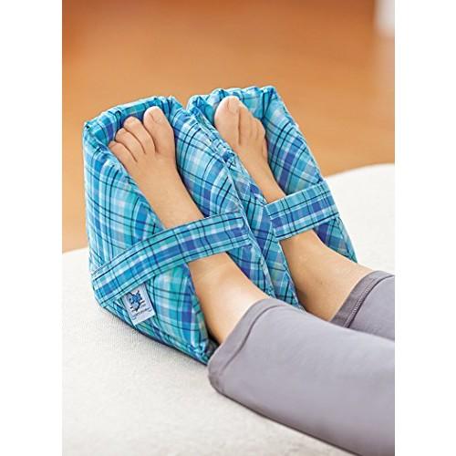 Plush Foot Pillows - Heel Protectors Cushions Pain Relief - 1 Pair - Navy [Navy]