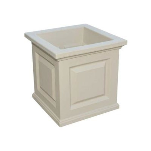 Mayne Nantucket 16 in. Square Clay Plastic Planter
