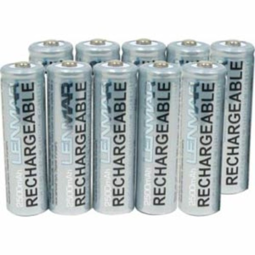 Lenmar 10AA NiMh Rechargeable Batteries