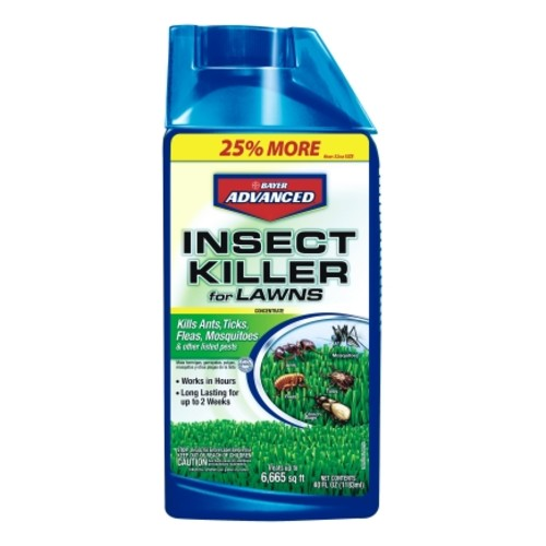 Bayer Advanced Insect Killer for Lawns For Ants Ticks Fleas Mosquitos 40 oz. Concentrate(708270D)