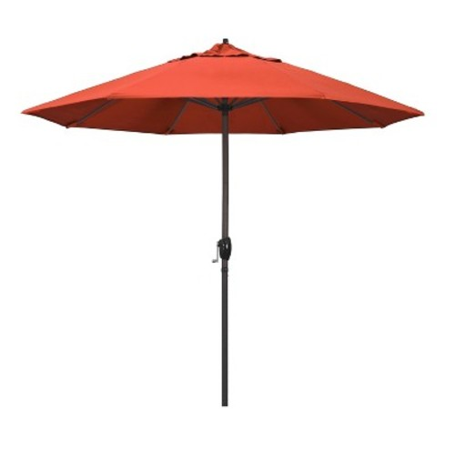 9' Aluminum Auto Tilt Crank Lift Patio Umbrella - Sunset