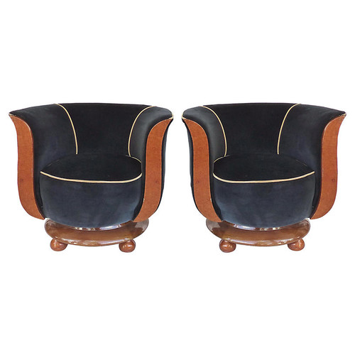 Hotel Le Malandre Club Chairs, S/2