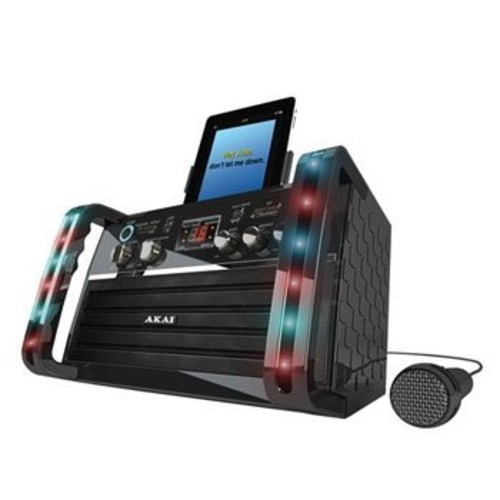 Akai KS213 Portable CD&G Karaoke System with Tablet Cradle [Black]