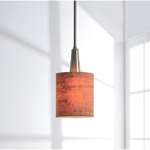 Kenroy Home 93011BS Bulletin 1 Light Brushed Steel Mini Pendant