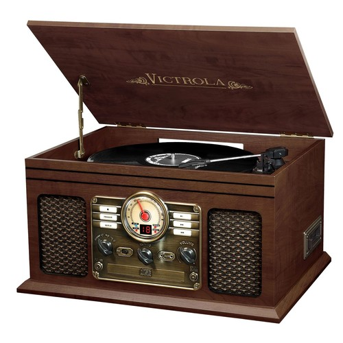 Victrola Classic 6-in-1 Wooden Bluetooth Turntable