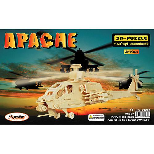 Puzzled Apache 3D Jigsaw Puzzle (80-Piece), 16 x 15 x 5.5