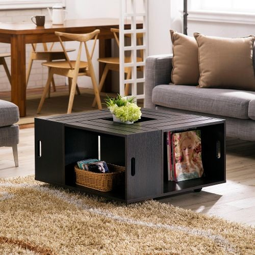 Maylena Espresso Crate Coffee Table