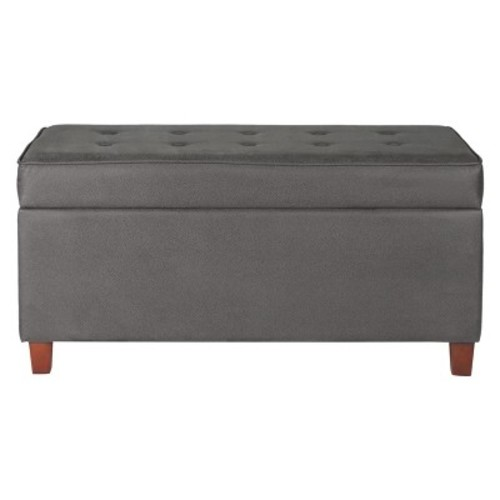 Storage Bench Gray - HomePop