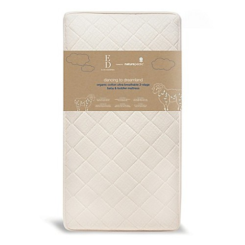 ED Ellen DeGeneres Crafted by Naturepedic Ultra-Breathable Organic Cotton 2-Stage Crib Mattress