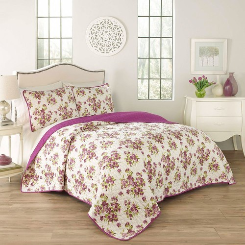 Traditions by Waverly 3-piece Primrose Quilt Set
