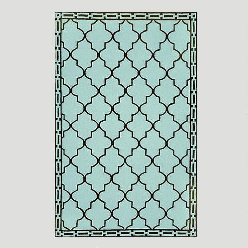 Aqua Floor Tile Indoor-Outdoor Rug