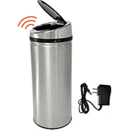 iTouchless Dual-Deodorizer Oval Open Top 16 gal. Stainless Steel Commercail Trash Can