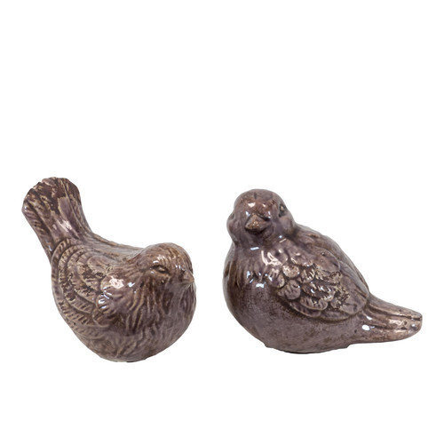 Urban Trends 2 Piece Ceramic Bird Set