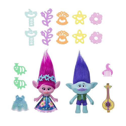 DreamWorks Trolls Adventures of Poppy and Branch Doll Set