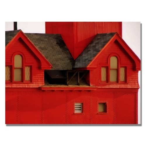 Trademark Global Michelle Calkins 'Big Red Lighthouse' Canvas Art [Overall Dimensions : 35x47]