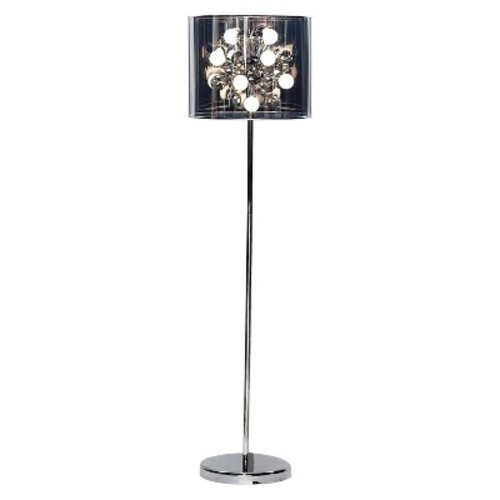 Adesso Starburst Floor Lamp - Silver