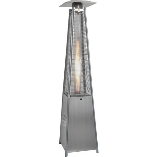 Hanover 7 ft. 42,000 BTU Stainless Steel Pyramid Propane Gas Patio Heater