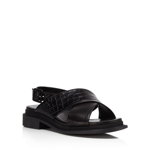 ROBERT CLERGERIE Embossed Cross Strap Sandals