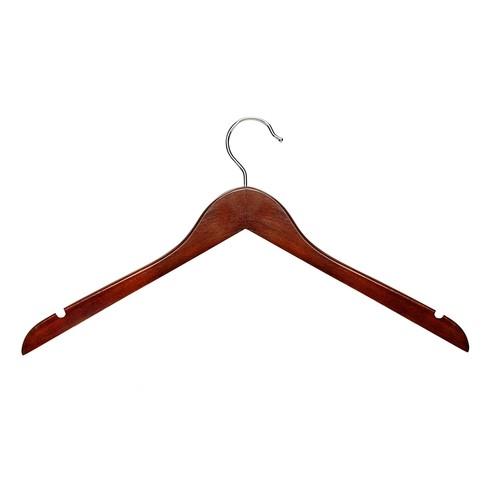 Honey-Can-Do HNGT01213 Basic Shirt Hangers Cherry, 20-Pack [Cherry]