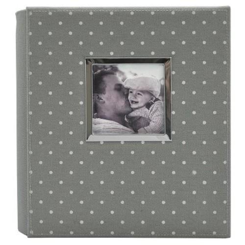 Polka Dot Photo Album Gray/White - Holds Two 4