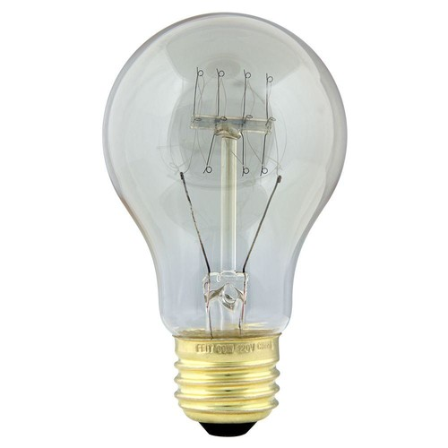 Feit Electric 60-Watt Soft White AT19 Incandescent Original Vintage Style Light Bulb (Case of 6)
