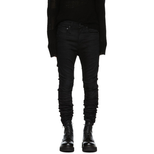 R13 Black Skywalker Skinny Jeans