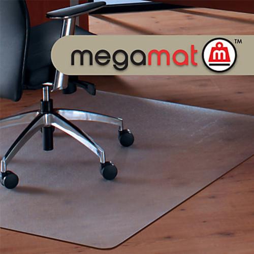 Cleartex Megamat Hard Floor/All Pile Chair Mat, Rectangular, 46