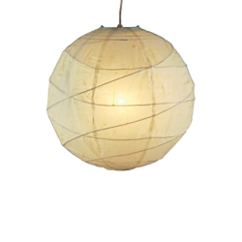 Adesso Orb Pendant Ceiling Lamp, Small, Natural