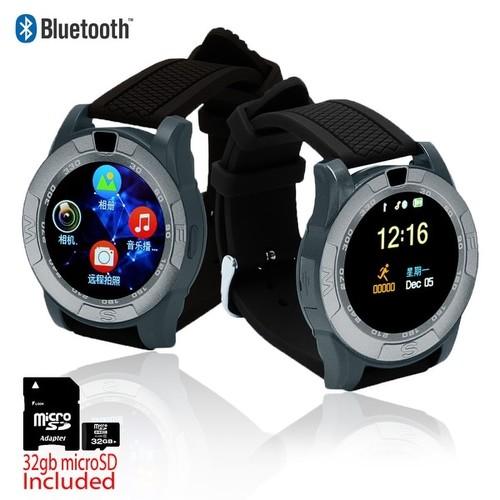 Indigi HOT NEW 2017 SmartWatch & Phone [GSM Unlocked + SMS/Call Reminder + Bluetooth Sync + Wrist Camera] + 32gb SD
