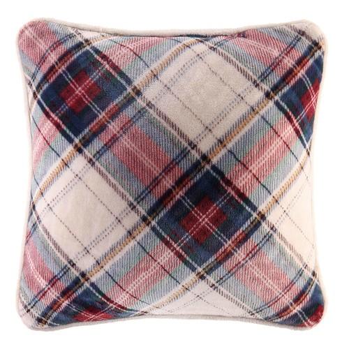 Winston Plaid Square Throw Pillow