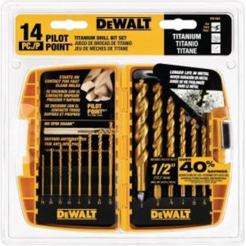DEWALT Titanium Pilot Point Drill Bit Set (14-Piece)