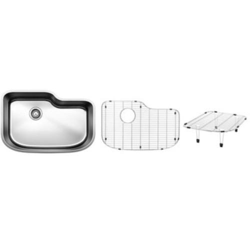 Blanco One 30'' x 20'' Multi-Level Single Kit Kitchen Sink