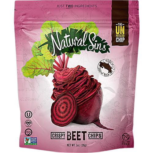 Natural Sins 100% Natural Baked Dried Fruit Thins Crispy Beetroot -- 1 oz