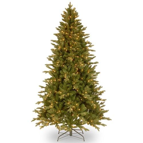 Feel-Real Avalon Spruce Hinged Pre-Lit Christmas Tree