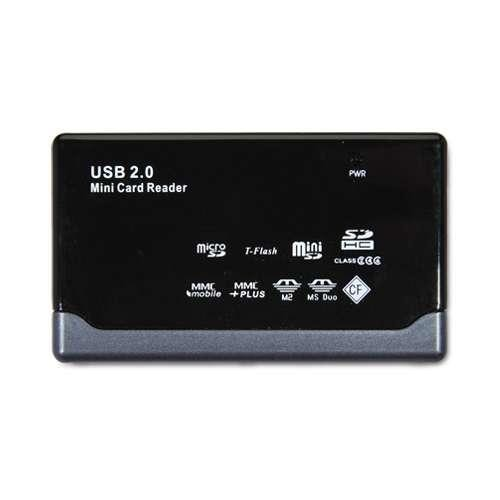 Gear Head CR4200 23-in-1 USB 2.0 Flash Card Reader - 23-in-1 - Memory Stick, Memory Stick Duo, Memory Stick Micro (M2), miniSD, SD, SDHC, MultiMediaCard (MMC), microSD, TransFlash, CompactFlash - USB 2.0External